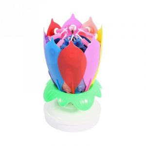 Little Sparks Flower Music Candle Multicolor Red