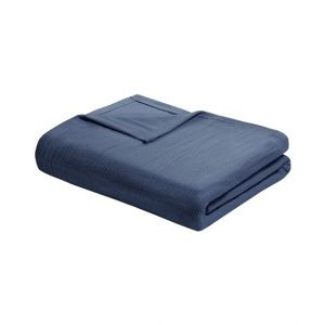 Home n Baby Cuddle Breathable Soft Blanket Twin Navy Blue