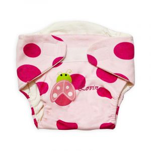 Careone Adjustable Baby Reuseable Nappy Red Dots Bug