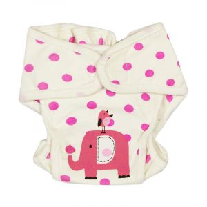 Careone Adjustable Baby Reuseable Nappy Elephant Pink