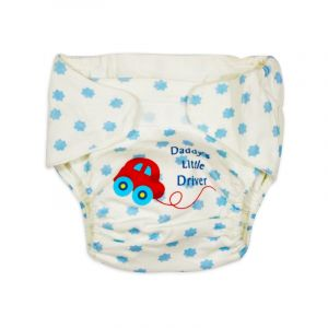 Careone Adjustable Baby Reuseable Nappy Little Driver Blue