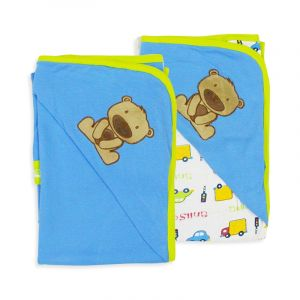 Careone Baby Wrapping Sheet Bear Blue