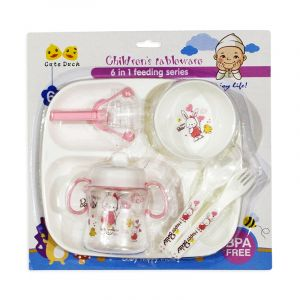 Little Sparks 6in1 Baby Feeding Set Pink