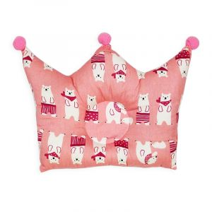 Little Sparks Baby Pillow Crown Bear Pink