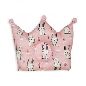 Little Sparks Baby Pillow Crown Rabbit Pink