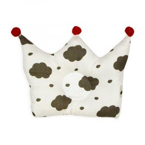 Little Sparks Baby Pillow Crown Clouds White