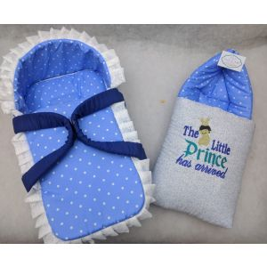 Jack&Jill Baby Moses Basket with Carry Nest Blue