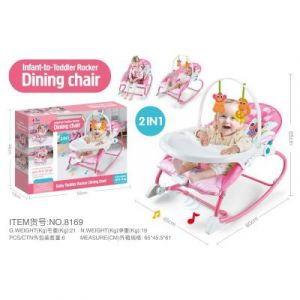 Joymaker Infant To Toddler Rocker And Dining Chair Pink