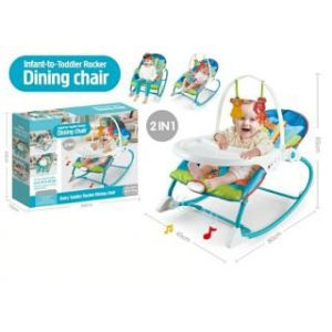 Joymaker Infant To Toddler Rocker And Dining Chair Blue