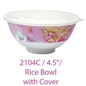 A mermaid Tale-Barbie Rice Bowl w/cover