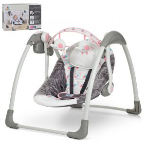 Mastela - Deluxe Portable Swing Grey & Pink
