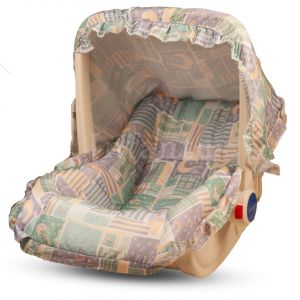 Infantes Baby Carry Cot w/ Mosquito Net Grey
