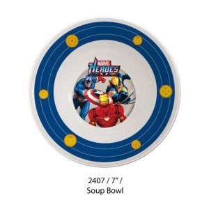 Marvel Heroes 3 Soup Bowl
