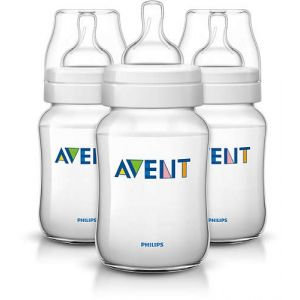 Avent CLASSIC PP 260ml Bottle+6-18 Soother Pk2